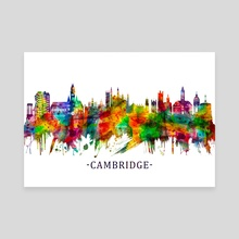 Cambridge England Skyline - Canvas by Towseef Dar
