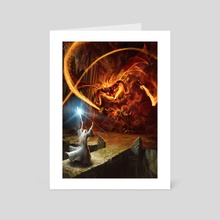 Gandalf and the Balrog - Art Card by Gonzalo Kenny
