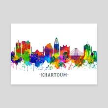 Khartoum Sudan Skyline - Canvas by Towseef Dar