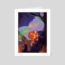 October Night  - Art Card by Indira Muzbulakova