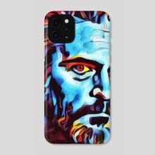 Joaquin Pheonix Digital Pop Art Painting - Phone Case by Sagar Ibrahim  Siyal