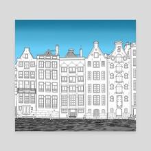 Dancing houses - Amsterdam - Canvas by Janko.