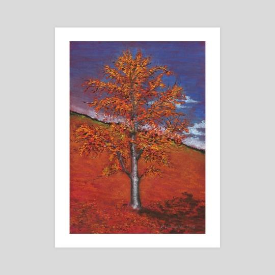 autumn tree by Krzysztof Wielkopolski
