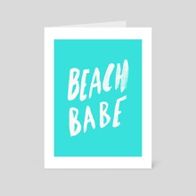 Beach Babe - Art Card by Leah Flores