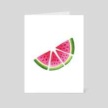 Melons - Art Card by Hanna Stueker