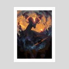 The Cosmic Dragon - Art Print by Ondřej Hrdina