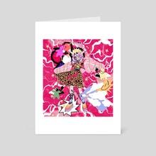 murakami meat angel - Art Card by Atlas Castro