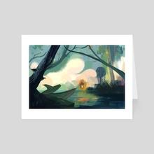 Autumnal swamp - Art Card by Noëlle Kröger