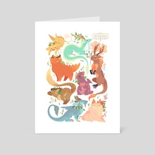 Tea Dragons - Art Card by Katie O'Neill