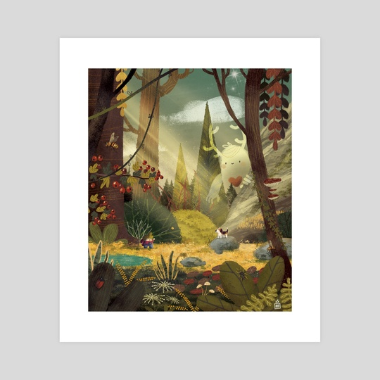 The giant in the woods by Anthony MOULINS