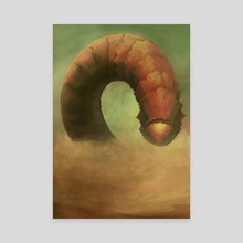 Sandworm of Dune - Canvas by David Leahey