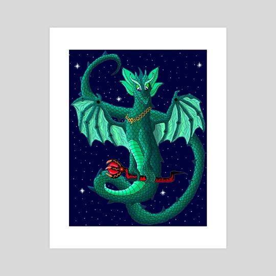 Magical Space Dragon by Karen Roop
