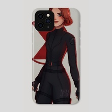black widow - Phone Case by maxy artwork