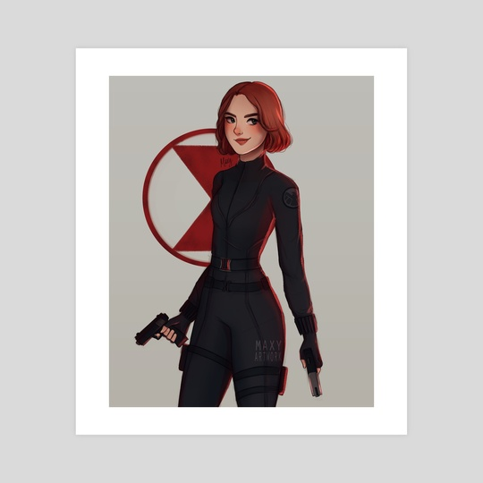 black widow by maxy artwork