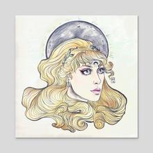 sailor moon - Acrylic by Lisa Nashed