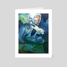 I Wish You Could Swim - Art Card by Marc Scheff