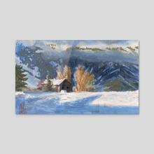 Mountain Cabin - Acrylic by Jared Johnson