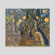 Orange Grove - Acrylic by Kaelee Helms