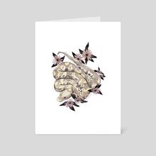 Ball Python - Art Card by Michelle Hunter