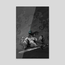 Fallen knight - Acrylic by J.V. Kukez