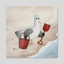 Bucket And Spade - Acrylic by Greg Abbott
