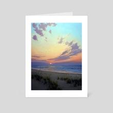 East beach Sunrise - Art Card by Armand Cabrera