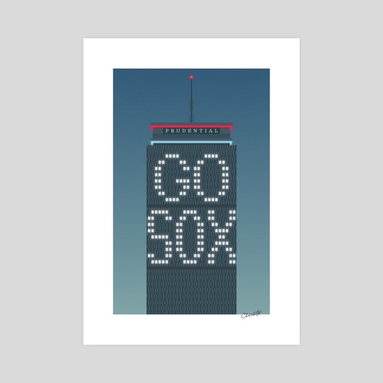 The Pru (night, Red Sox) by Chris Cerrato