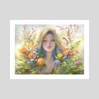 clip studio paint portrait - Art Print by Viktoria Gavrilenko
