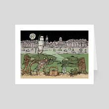 Subsaliens Go Down To Sea At Greenwich - Art Card by Natalie Knowles