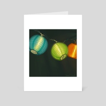 Paper Lanterns - Art Card by Yannick Godts