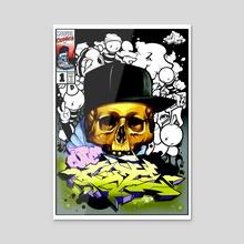 Skull Thoughts - Acrylic by Robert Whitelock
