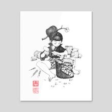 Apprentice - Inktober 2019 - Acrylic by Will Murai