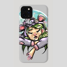 Sleepy Posey - Phone Case by Lillian Fitch