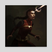 combustion woman - Canvas by Britney Winthrope