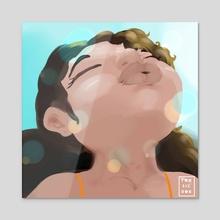 Free spirit - Acrylic by Briana Burpo