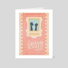 The Grand Budapest Hotel - Art Card by Elena Yaremchuk