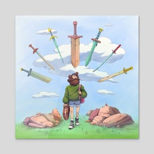 The Pilgrim - Acrylic by mrmattzan