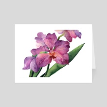 Purple Orchid - Art Card by Paulina Navarro