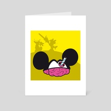 mickey head - Art Card by myoopia marcello
