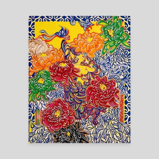 Chrysanthemum Porcelain by Yin Lu