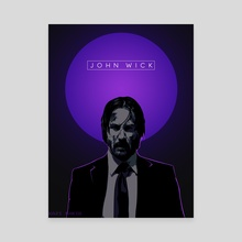 John Wick Poster - Canvas by Kazi Sakib