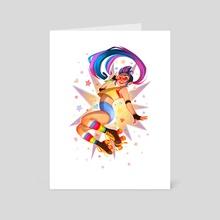 Skatergirl - Art Card by Merel van den Broek