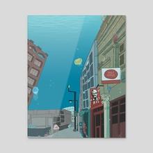 Downtown Buried - Acrylic by Raine Dodds