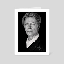 David Bowie - Art Card by Craig Stirling