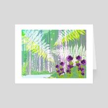 Serene Evergreen Scene - Art Card by Jahla Brown