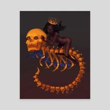 Queen of Despair - Canvas by Abigail  Higdon