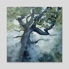 The Wishing Tree - Acrylic by Ellen Wilberg