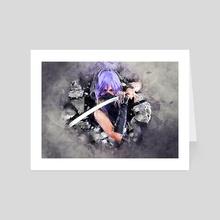 Ninja Girl - Art Card by Jonathan Becerra