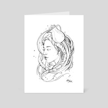 Zodiac: Aquarius - Art Card by Kate Trish