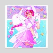 nurse witch komugi ! - Canvas by SOFTJAN